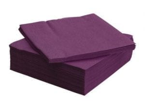 Napkins Purple 33cm 2ply - Box 2000 -0