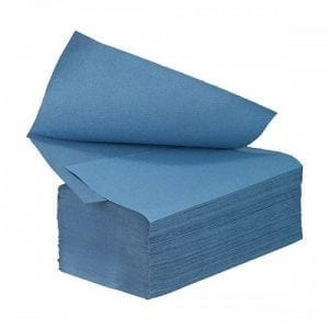 Interfold Paper Hand Towels 1ply - Blue - Box 3510