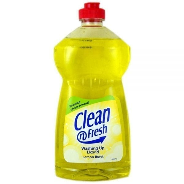 Clean & Fresh Washing Up Liquid 500ml Lemon - Box 12 1