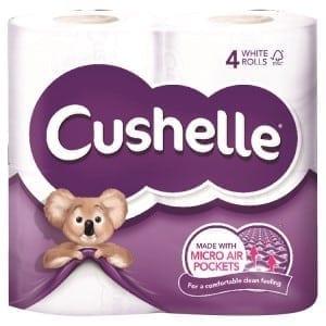 Cushelle Toilet Rolls - 2ply White - 40 Pack 1
