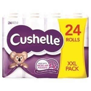 Cushelle Toilet Rolls - 2ply White - 24 Pack 1