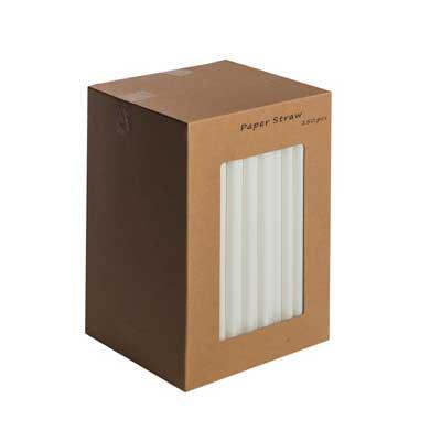 "Paper Straws White Sip 5.5"" 250's"