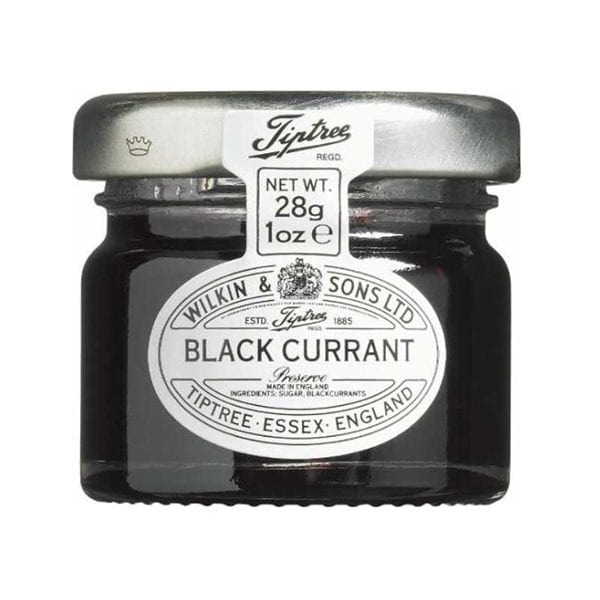 Tiptree Blackcurrant Jam Jars 28g - Box 72 1