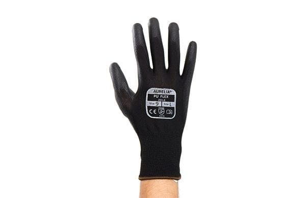 PU Flex Plus Work Gloves Black - Large 1