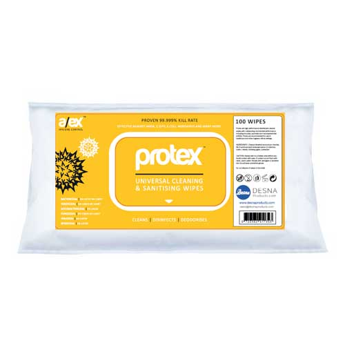 Protex Universal Cleaning and Sanitising Wipes 1000's